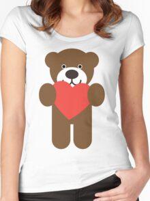 Teddy Bear Heart Women's Fitted Scoop T-Shirt
