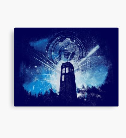 the lighthouse of gallifrey Canvas Print