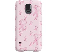 Pink Heart Ribbon Breast Cancer Samsung Galaxy Case/Skin
