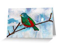 Bright Bird Greeting Card