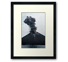 Eruption on Anak Krakatau. Sunda Strait. Indonesia. Framed Print