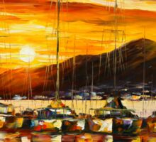 ITALY, NAPLES HARBOR - VESUVIUS - Leonid Afremov Sticker