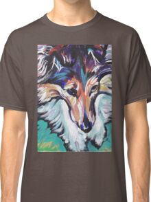Sheltie Shetland Sheepdog Bright colorful pop dog art Classic T-Shirt