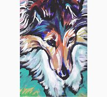 Sheltie Shetland Sheepdog Bright colorful pop dog art Unisex T-Shirt