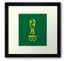 Brazil World Cup wins Framed Print