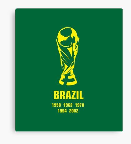 Brazil World Cup wins Canvas Print