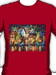 LUXEMBURG NIGHT - Leonid Afremov T-Shirt