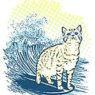 Surfing Cat by BKLOUNGE
