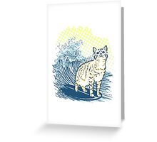 Surfing Cat Greeting Card