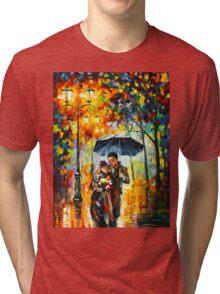 WARM NIGHT - Leonid Afremov Tri-blend T-Shirt