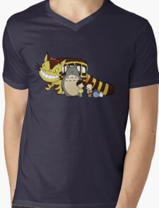 Totoro, to-to-ro Mens V-Neck T-Shirt
