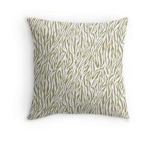 Gold Zebra Print Throw Pillow