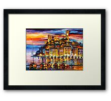 CANNES - FRANCE - Leonid Afremov Framed Print