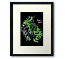 Puny Bat! Framed Print