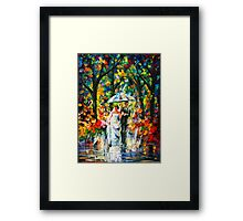WEDDING UNDER THE RAIN - Leonid Afremov Framed Print