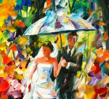 WEDDING UNDER THE RAIN - Leonid Afremov Sticker