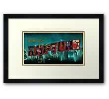 Greetings From Rapture! Framed Print