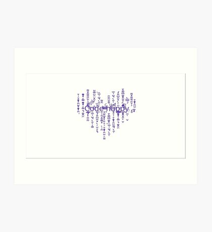 Code happy Art Print
