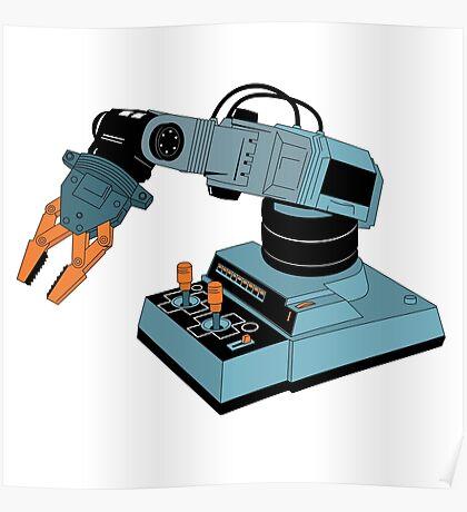 Eighties Robot Arm Poster