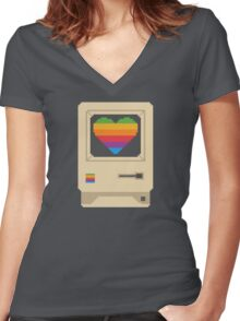 Mac Love Women's Fitted V-Neck T-Shirt