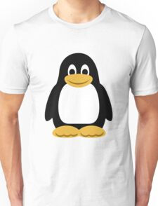 Linux Tux Cartoon (Black) Unisex T-Shirt