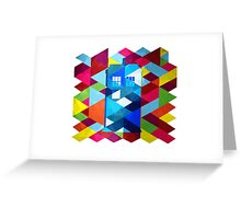 Geometric TARDIS Greeting Card
