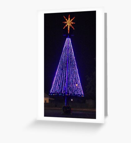 Big Purple Xmas Greeting Card