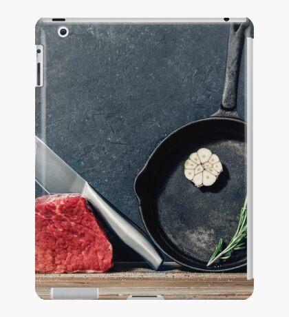 Cooking beef steak iPad Case/Skin