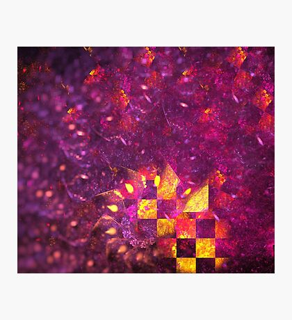 Ultraviolet Gold Spiral Photographic Print