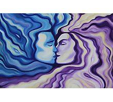 Lovers in Eternal Kiss Photographic Print