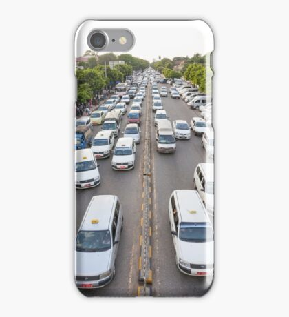 Cars on Bo Gyoke Road, Downtown Yangon iPhone Case/Skin