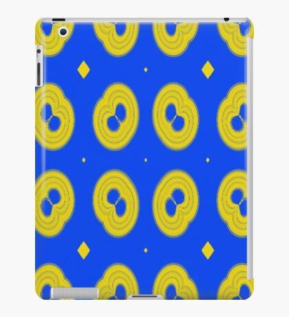 blue yellow unique pattern iPad Case/Skin