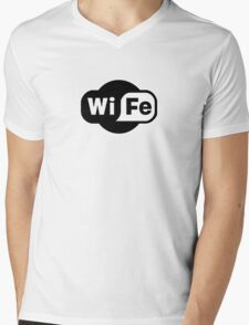 Wife ...a Wi-Fi parody Mens V-Neck T-Shirt