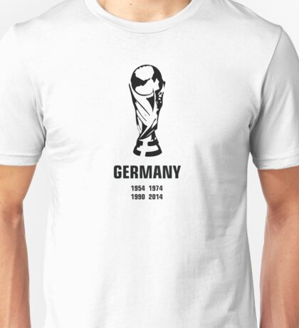 Germany World Cup wins Unisex T-Shirt
