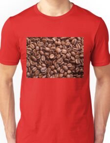 Coffee beans background Unisex T-Shirt