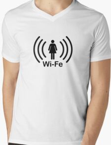 Wife - another Wi-Fi parody Mens V-Neck T-Shirt