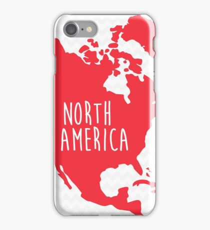 North America Chevron Continent Series iPhone Case/Skin