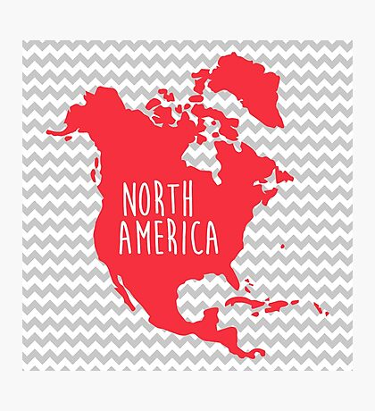 North America Chevron Continent Series Photographic Print