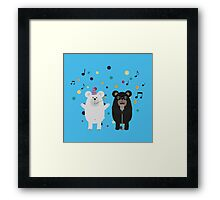 Singing Party Bears Framed Print
