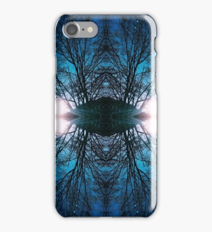 Blue Winter Sky and Trees iPhone Case/Skin