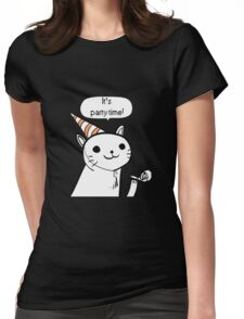 It's party time! Womens Fitted T-Shirt