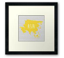 Asia Chevron Continent Series Framed Print