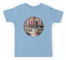 Philadelphia PA - Townhouse With Red Geraniums Kids Tee