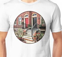 Philadelphia PA - Townhouse With Red Geraniums Unisex T-Shirt