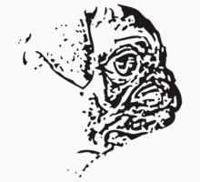 Pug Side One Piece - Short Sleeve