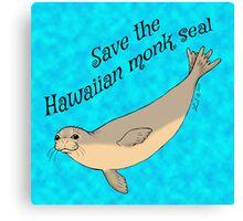 Hawaiian monk seal Canvas Print