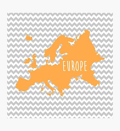 Europe Chevron Continent Series Photographic Print