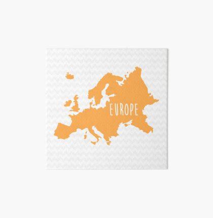 Europe Chevron Continent Series Art Board