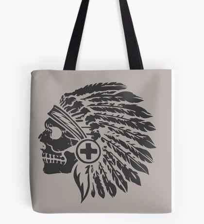 Native Headdress and skull Tote Bag