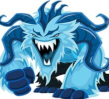 Blue Devil Demon Monster by Fitzillo